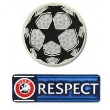 CHAMPIONS LEAGUE FOOTBALL SHIRT SOCCER PATCH SET IRON TRANSFER UCL RESPECT BADGE