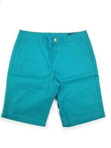 Nuovo-da-Uomo-Bonobos-Pantaloncini-Taglia-32-11-inch-Cavallo-Verde-Blu-Tasche