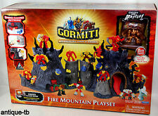 GORMITI LORDS OF NATURE FIRE MOUNTAIN PLAYSET NEW 2008 W/ SPECIAL DELUXE FIGURE