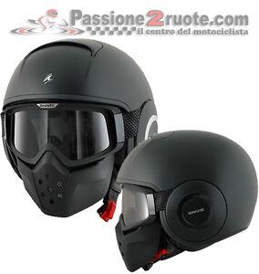 f6d81a77475cd Image is loading Helmet-Shark-Raw-matte-black-black-matt