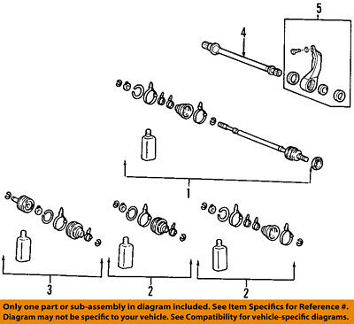Genuine Hyundai 49593-2S200 Differential Side Axle Joint Kit Right Front