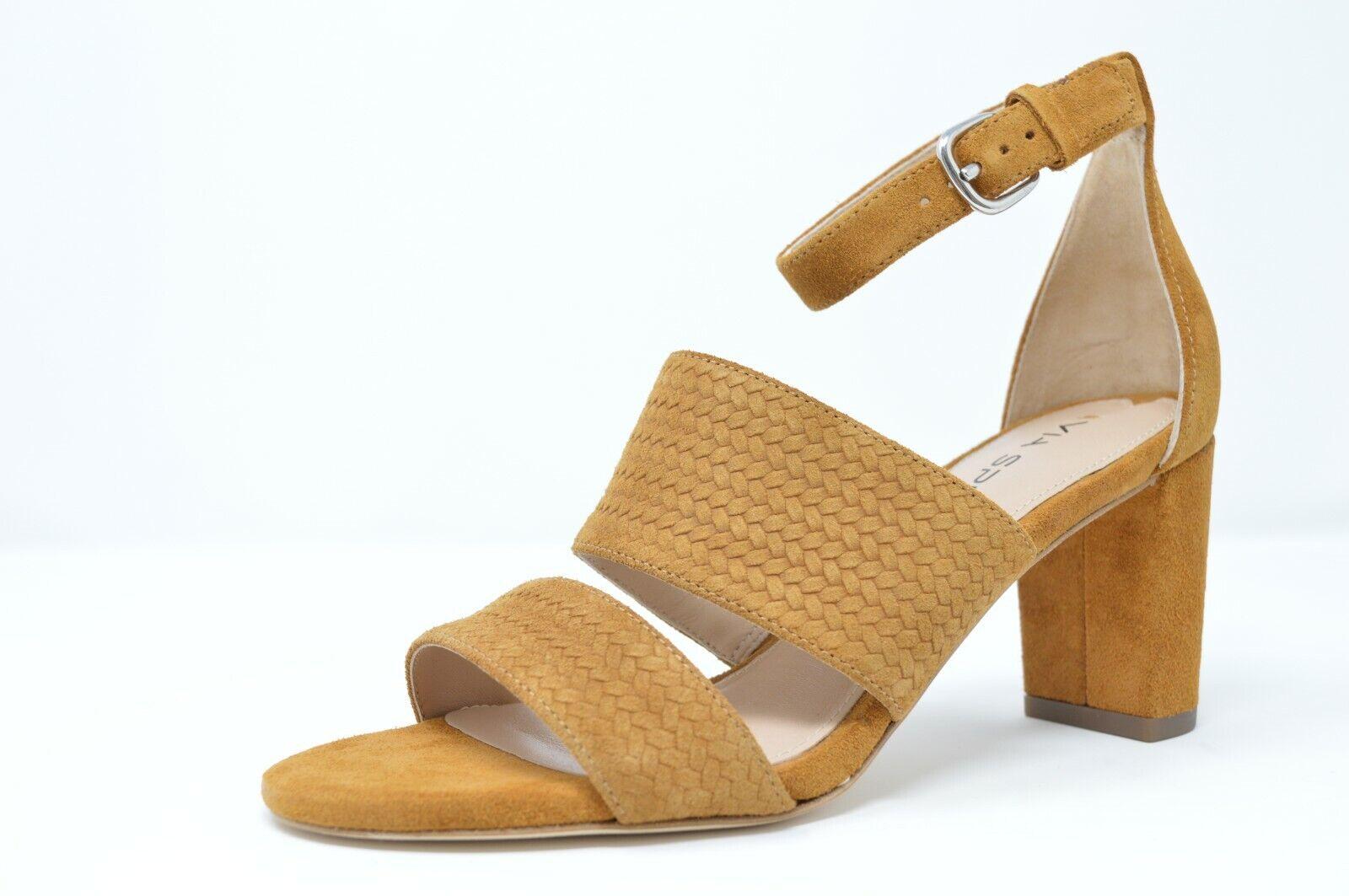 Via Spiga donna Wendolin1 Heels Tawny Suede Sandals Texturosso, Marronee, Dimensione 9.5