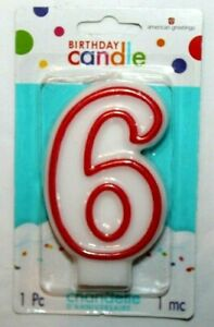 Stars 6-Count American Greetings Birthday Candles
