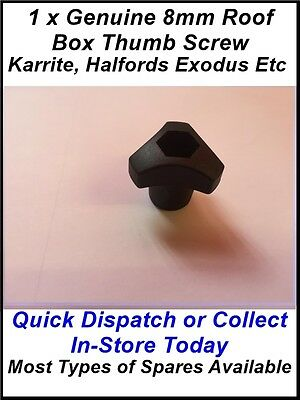 SPARES 1 X KARRITE ODYSSEY ROOF BOX THUMB SCREW ALSO FIT HALFORDS /& EXODUS