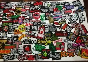 Wholesale Lot  Band Random Iron On Patch Music Punk Pop Rock Heavy Metal Sew