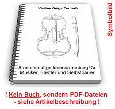 Violine selbst bauen - Geige Bratsche Viola Streichinstrument Technik Patente