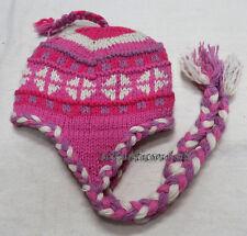 C15 Multicolor handknit Himalayan woolen Sherpa ear flap winter Cap Nepal Tibet
