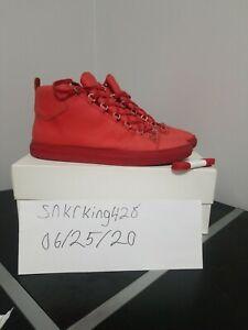 Men's Balenciaga Arena Sneakers, Red