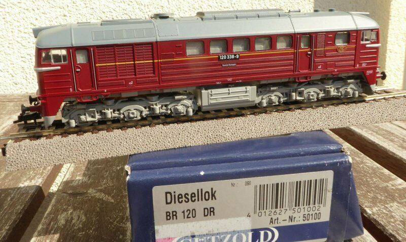 Gützold 50100 h0 DIESEL BR 120 3389 DR epoca 4 con DSS  LED, BW Gera in scatola originale