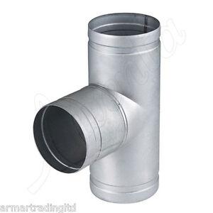 Verbindungsstueck-Rohr-T-Stueck-Anschluss-Metall-T-Shirt-Joint-Alu-Belueftung-Hose