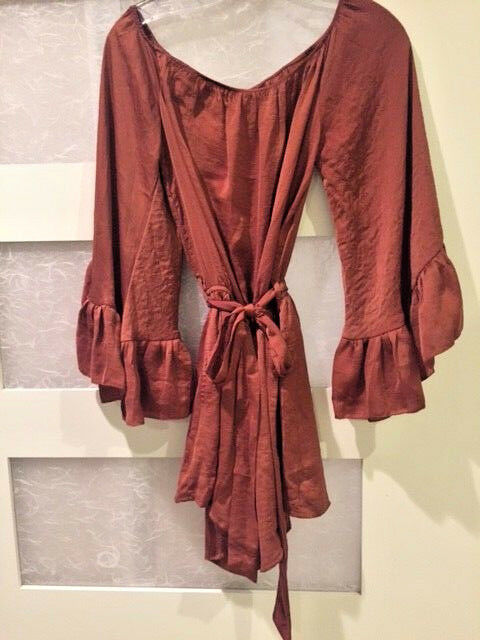NWT COPPER ROMPER BY LISTICLE women's size Medium
