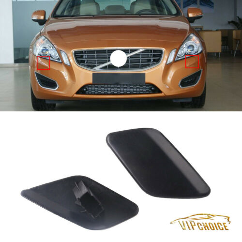 2Pcs For VOLVO S60 2011-2013 Front RH /& LH Bumper Headlamp Washer Cover Lid