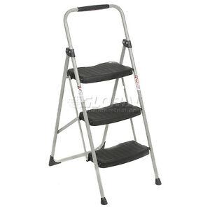 Werner 3 Step Steel Folding Step Ladder 225 Lb Cap 223