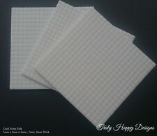 White Craft Foam Pads x 400 Double Sided Adhesive 5mm x 5mm x 1mm, 2mm, 3mm