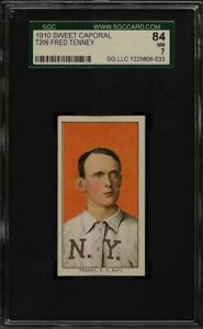Very Rare 1909-11 T206 Fred Tenney Sweet Caporal 350 New York SGC 7 NM Pop 1