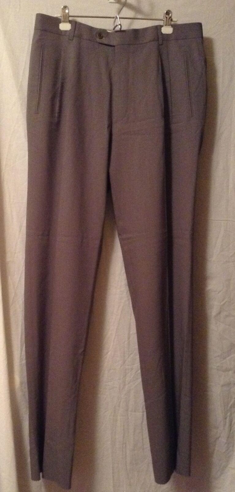 GREAT PAIR OF MEN'S HUGO BOSS 100% WOOL DRESS PANTS OLIVE GREEN- SZ 36 - NWOTGS