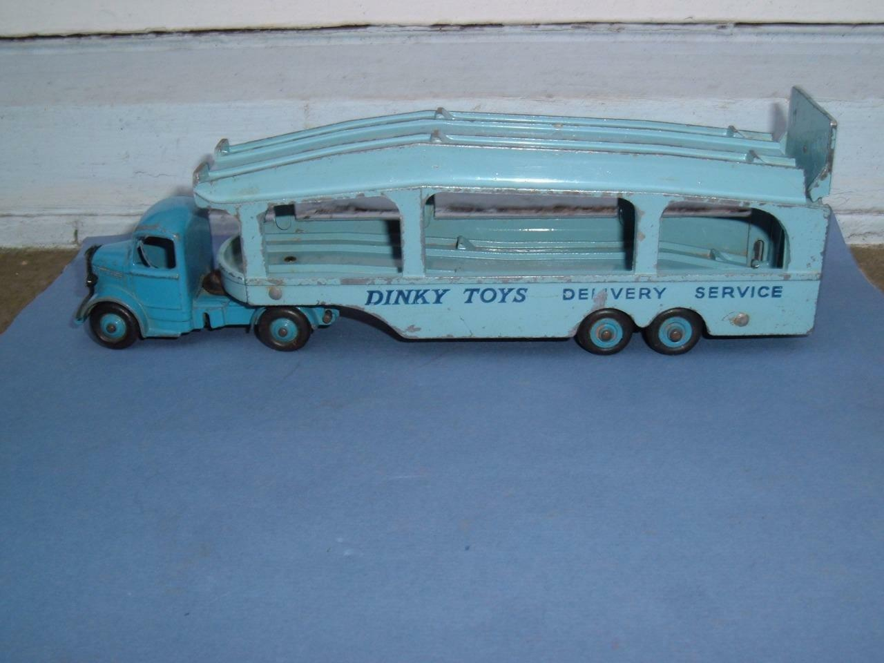DINKY TOYS BEDFORD PULLMORE CAR TRANSPORTER LORRY IN USED VINTAGE USED