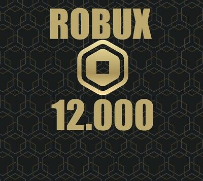 About Robux Robux Roblox 12000 No Code No Group Ebay