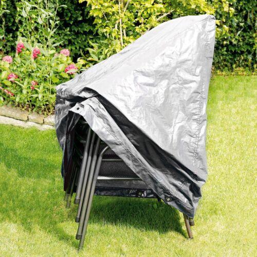 RAINEXO Schutzhülle Gartenstühle für 4 stapelbare Sessel in Silbergrau