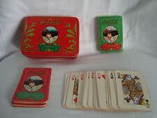 Coca Cola Victorian Lady 2 Decks PLAYING CARDS & TIN 1 Deck still sealed