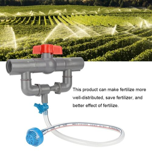 Garden Irrigation Device Venturi Fertilizer Injector /& Switch Water Tube Kit