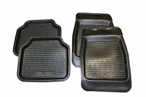 Mitsubishi L200 Deep Mud Trays Mats 4 pc set in BLACK UNIVERSAL FIT