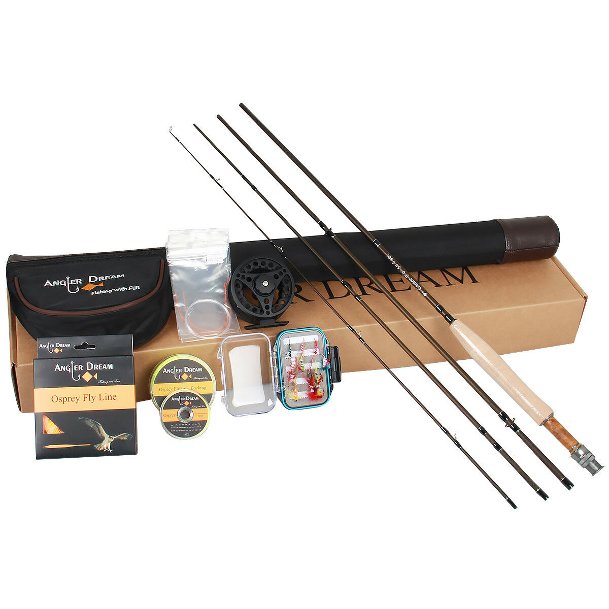3 5 8WT Fly Fishing Rod Combo Carbon Fiber Fly  Rod CNC Fly Reel WF Fly Line  best service