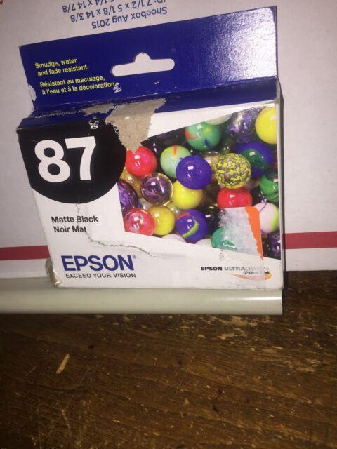 Genuine Sealed OEM Epson 87 (T087820) Black Ink Cartridge; Exp:03.2020