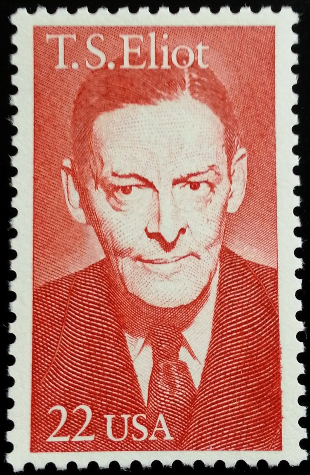 1986 22c T.S. Eliot, Author & Major Poet Scott 2239 Min