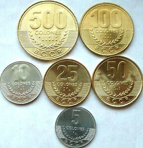 Image Is Loading Costa Rica New Set Of 6 Coins 5