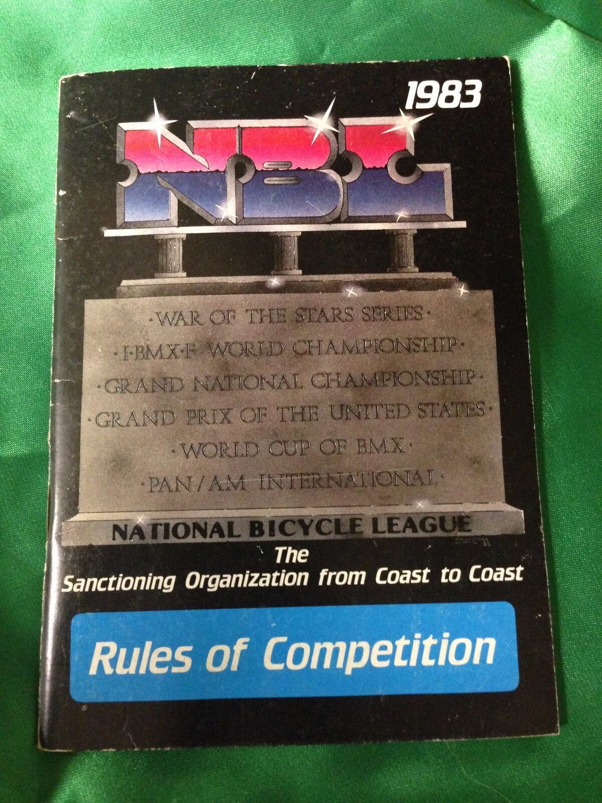 Vintage BMX National Bicycle League-NBL BMX Rule Book 1983 Hutch SE PK Ripper GT