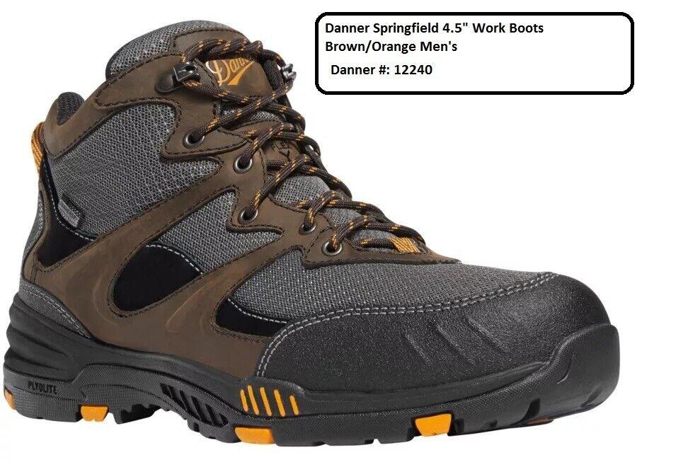 Danner Springfield 4.5  botas De Trabajo Marrón Naranja para hombre