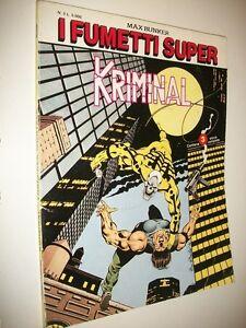 I-FUMETTI-SUPER-N-3-KRIMINAL-3-STORIE-COMPLETE-MAX-BUNKER-PRESS-MAGGIO-1994