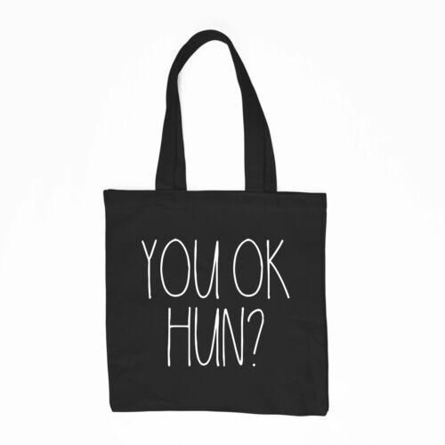 You Ok Hun Tote Bag Funny Slogan Reusable Shopper Bag