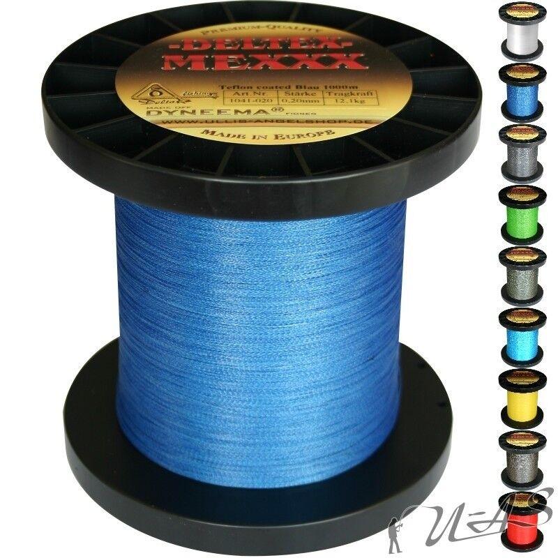 Deltex mexxx Hi-Tec circa intrecciato intrecciato intrecciato lenza TEFLON 0,30 1000m BLU SHA 77a3ff
