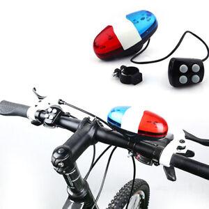 Fahrrad-Polizei-LED-Licht-4-Laute-Sirene-Sound-Trompete-Radfahren-Horn-Bell