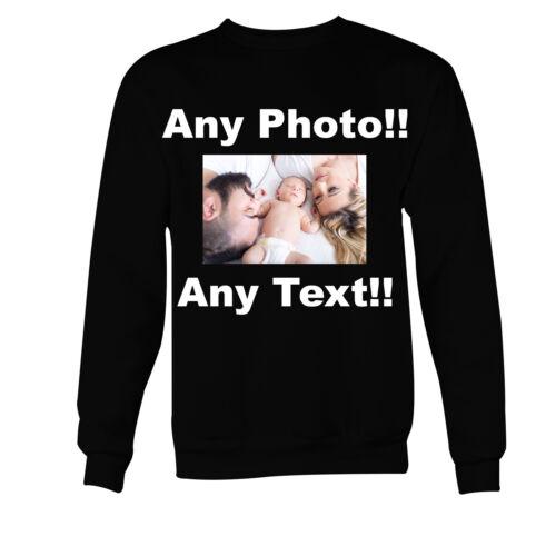Personalised Photo Sweater Printed Custom Text Women Men Kids