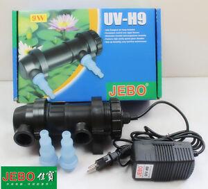 JEBO 9W UV Sterilizer Lamp Light Water Cleaner For Coral Koi Fish Pond Filter