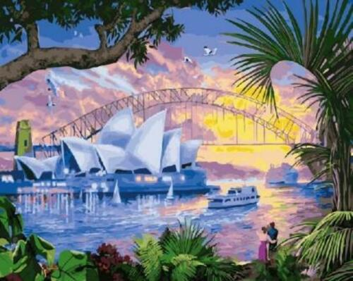 Van-Go Paint-By-Number Kit Sydney Opera House