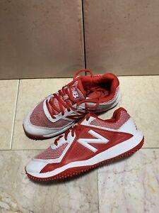 New-Balance-TY4040R4-Turf-Junior-039-s-Baseball-SKU-TY4040K5-Sz-4-5-US-White-Red