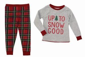 36716c8a0 Mud Pie Kids Tartan Red Plaid Christmas Boys Pajamas