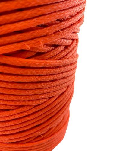 4mm Orange Braided Polyethylene Floating Twine 1kg Spool Nets Fishing Marine