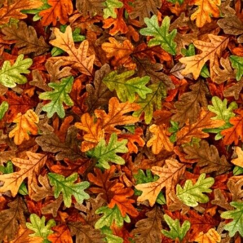 Turkey Hill Fabric #27170-T Autumn Leaves Quilt Shop Quality