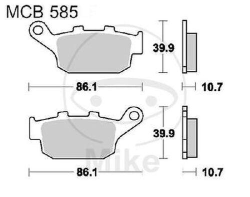 TRW Lucas Bremsbeläge MCB585SH hinten Honda NX 650 Dominator Ritzel grobverzahnt