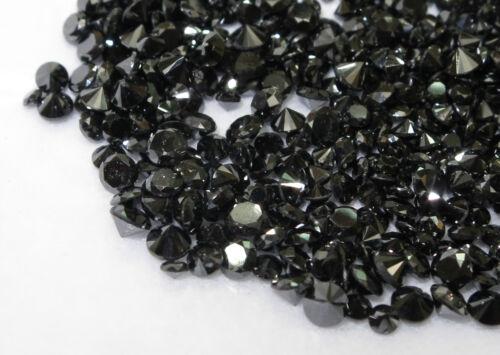 1.2mm 25pc Natural Loose Fancy Black Diamond Round Cut Good Quality
