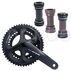 Shimano 105 FC-R7000 Road Bike Crank Set W// BB,165//170//172.5//175mm 50//34T