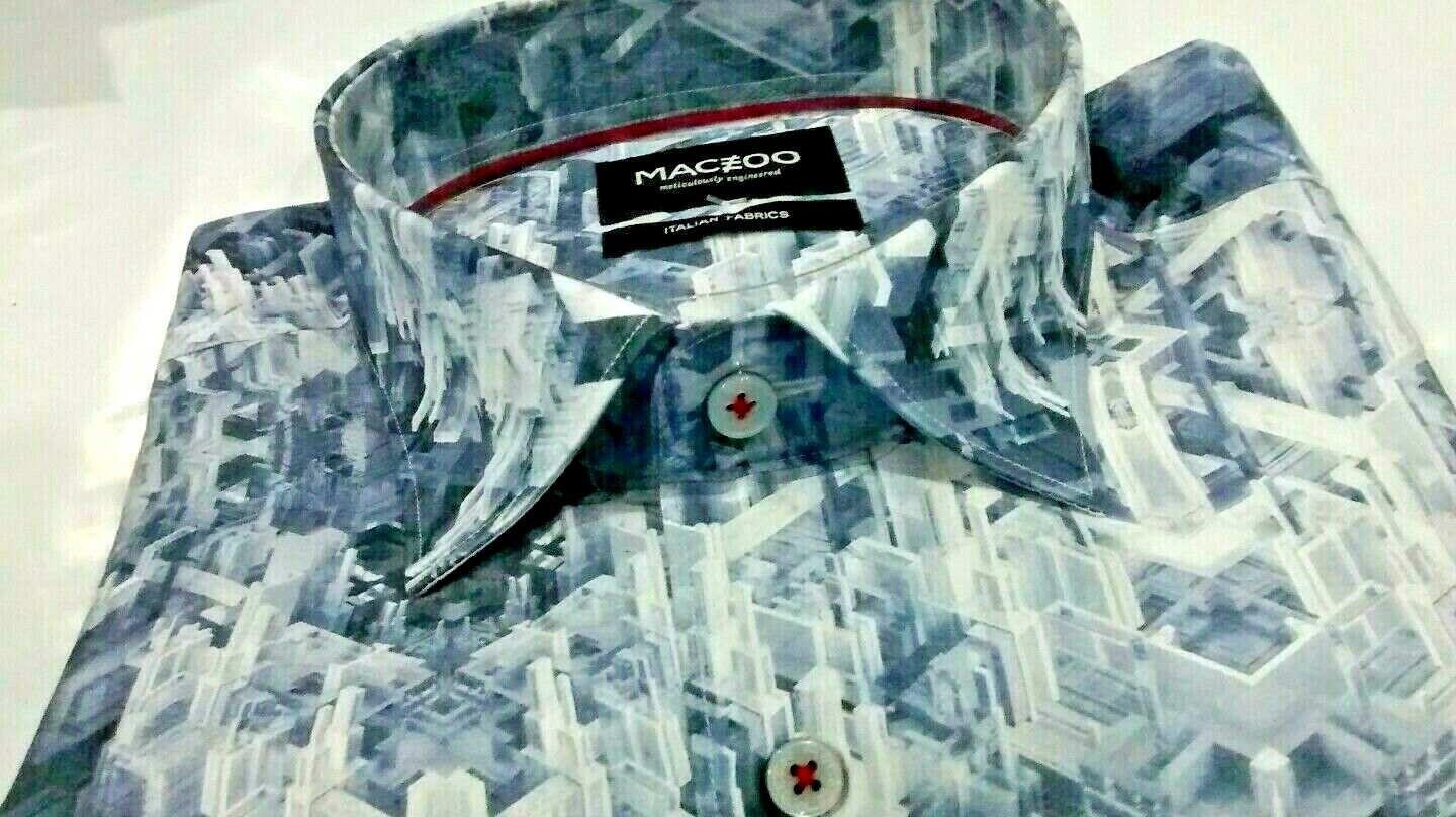 NWT Maceoo men's size XL long sleeve button down shirt,Luxor buildings