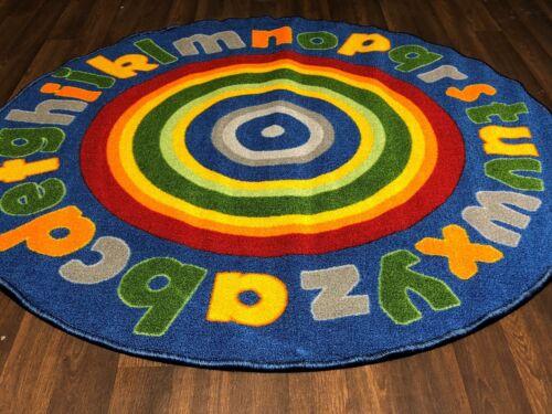 NON SLIP 133CMX133CM CIRCLES MATS HOMES//SCHOOLS EDUCATION RUGS NEW KIDS ABC