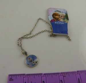 Disney-Frozen-Olaf-snowman-charm-necklace-Christmas