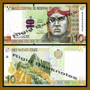 Peru-10-Nuevos-Soles-2013-P-New-Unc